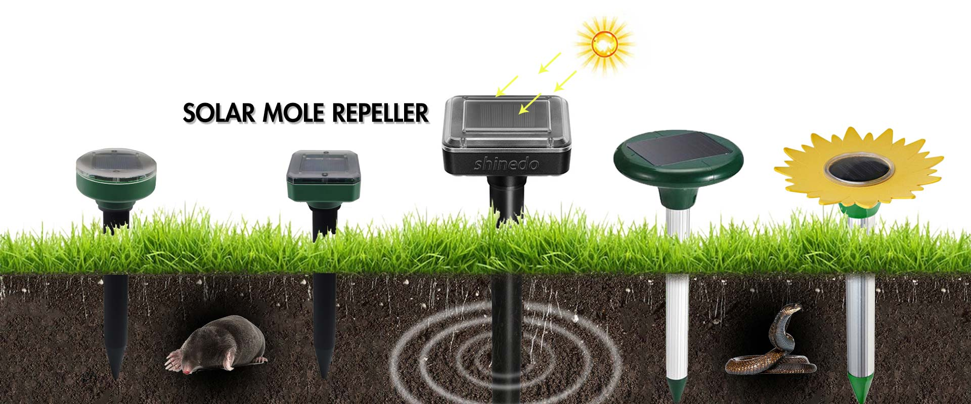 Solar Mole Repeller Supplier China