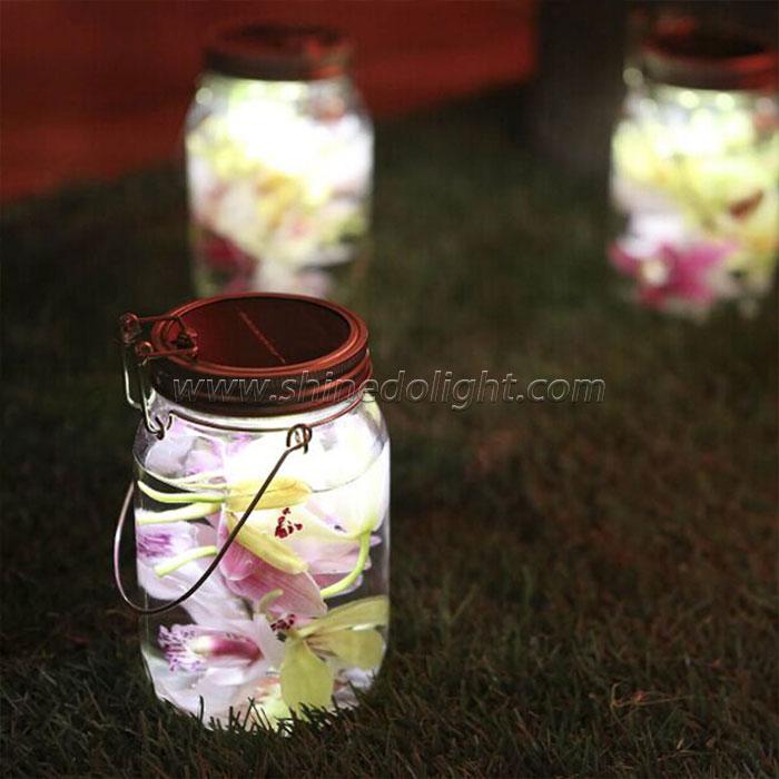 4PCS LED Solar Jar Light