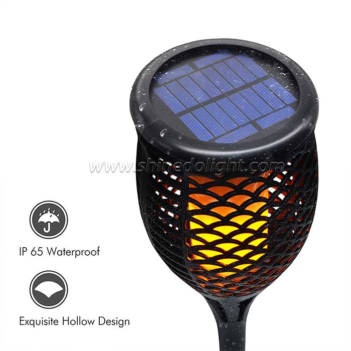 New Design Solar Torch Flame Light