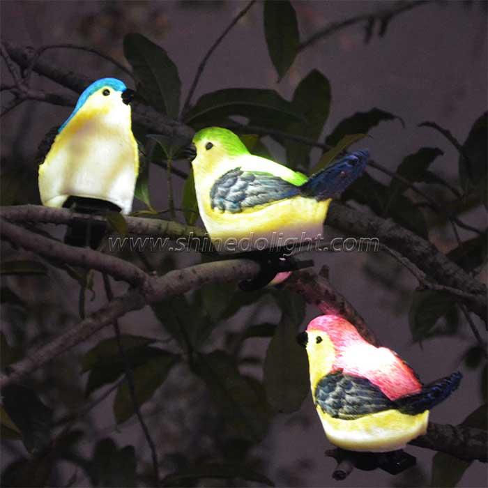 Solar Powered  Bird Garden Light