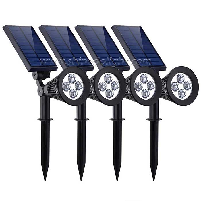 Solar Powered Adjustable Spotlight for Garden