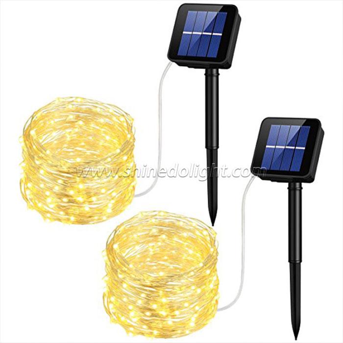 100LED  Solar Copper String Light