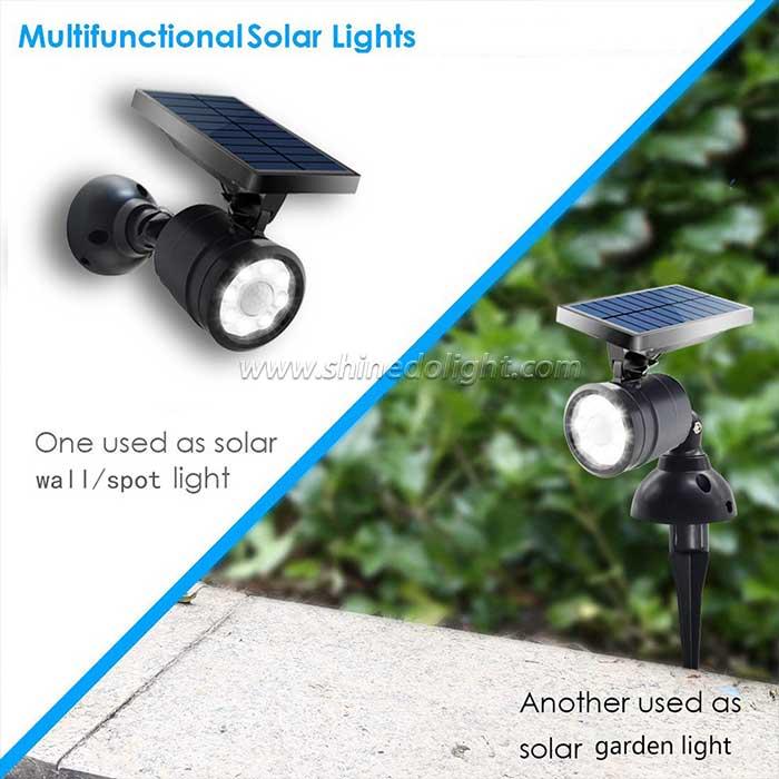Multipurpose Solar Spot Wall Light for Garden