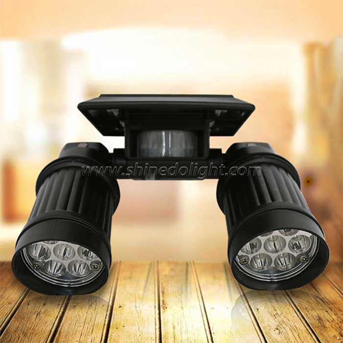 14 LED Adjustable Solar Spotlight Landscape Light