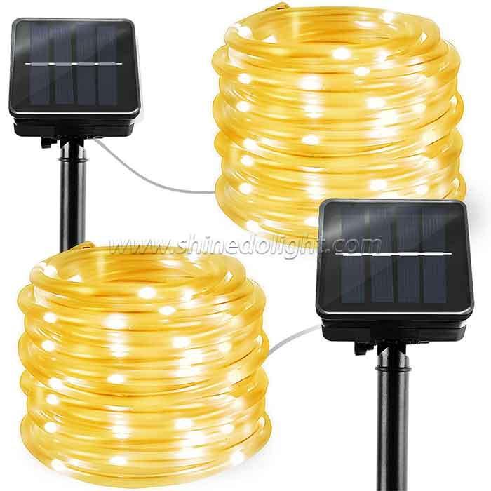 Solar Rope Outdoor LED String Decorative Lights for Garden