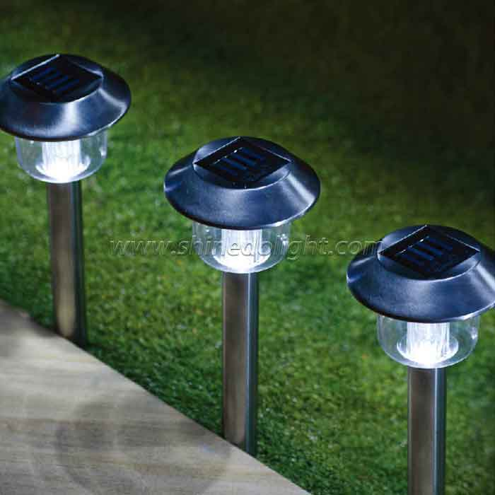 Solar Pathway Stainless Steel Landscape Light