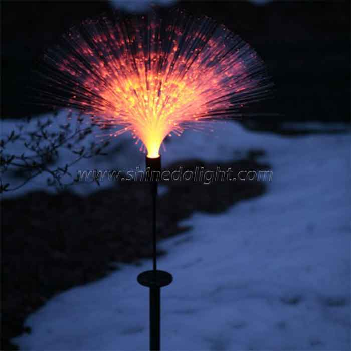 Color Change LED Solar Powered Pretty Optical Fiber Lawn Garden Night Decorative Lamp