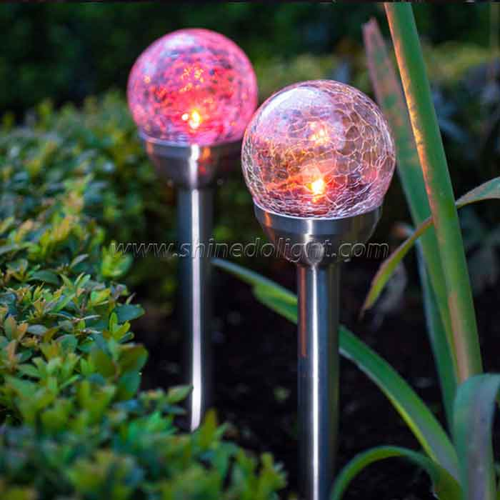 Solar Globe Color-Changing LED Garden Landscape Decorative Light