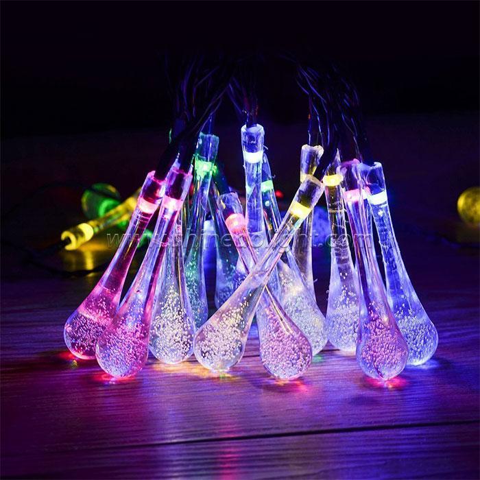 Crystal Balls Decorative Solar Patio Water Drop Starry Lights