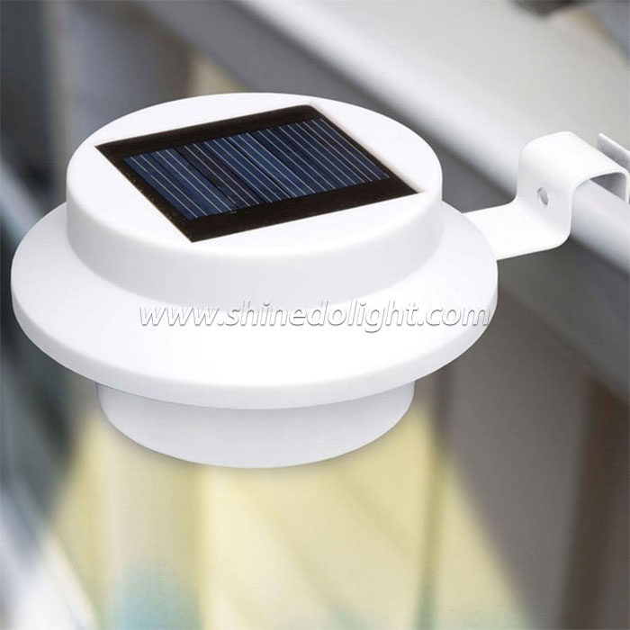 Solar Fence Security Light for for Eaves Garden Landscape Pathway