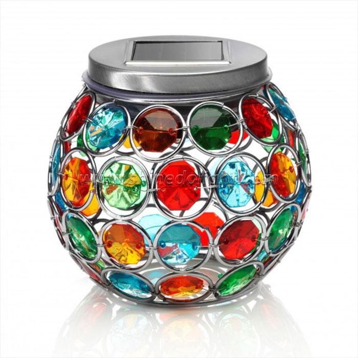 Solar Powered Mosaic Glass Ball Garden Lights