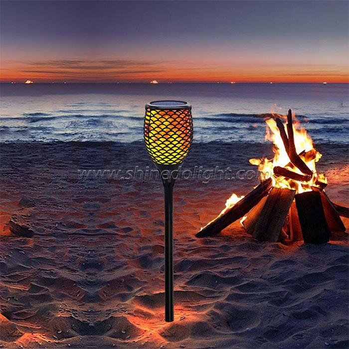 New Design Solar Torch Flame Light