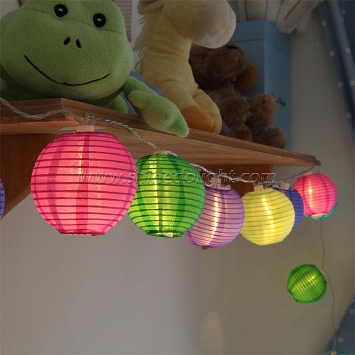 Fabric Ball Solar Fairy Christmas Lighting Lantern Lamps