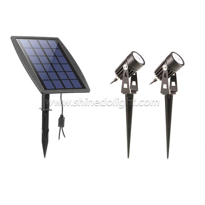 Upgraded Solar Powered Spotlight for Courtyard