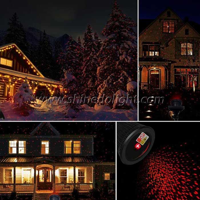 Solar Laser Christmas Decoration LED Projector Laser Light