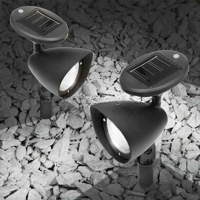 Adjustable Outdoor Landscape 4pcs LED Solar Landscape Spotlight