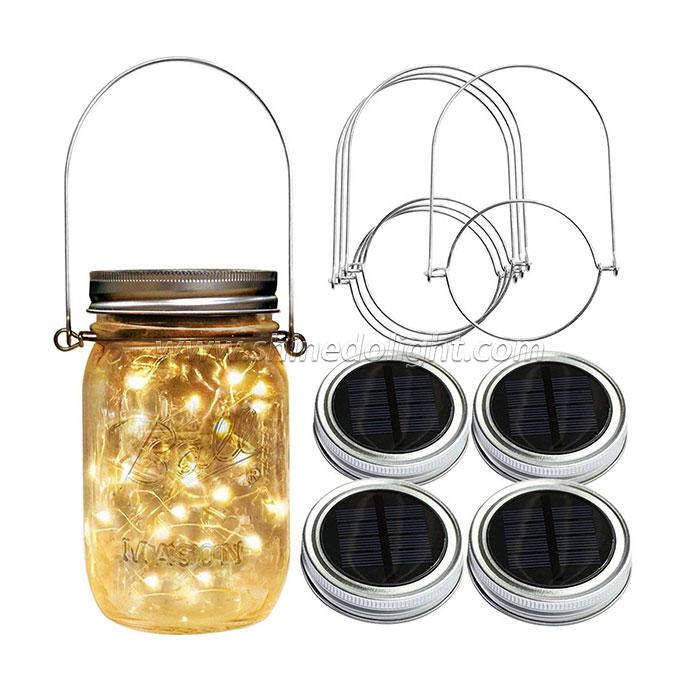 Warm White LED 10/20pcs Solar Mason Jar Lid