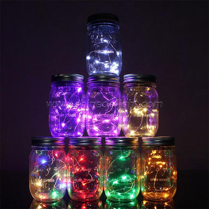 Multicolor Solar Mason Jar Lights