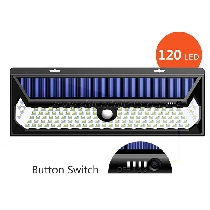 120 LED Solar Motion Sensor Light