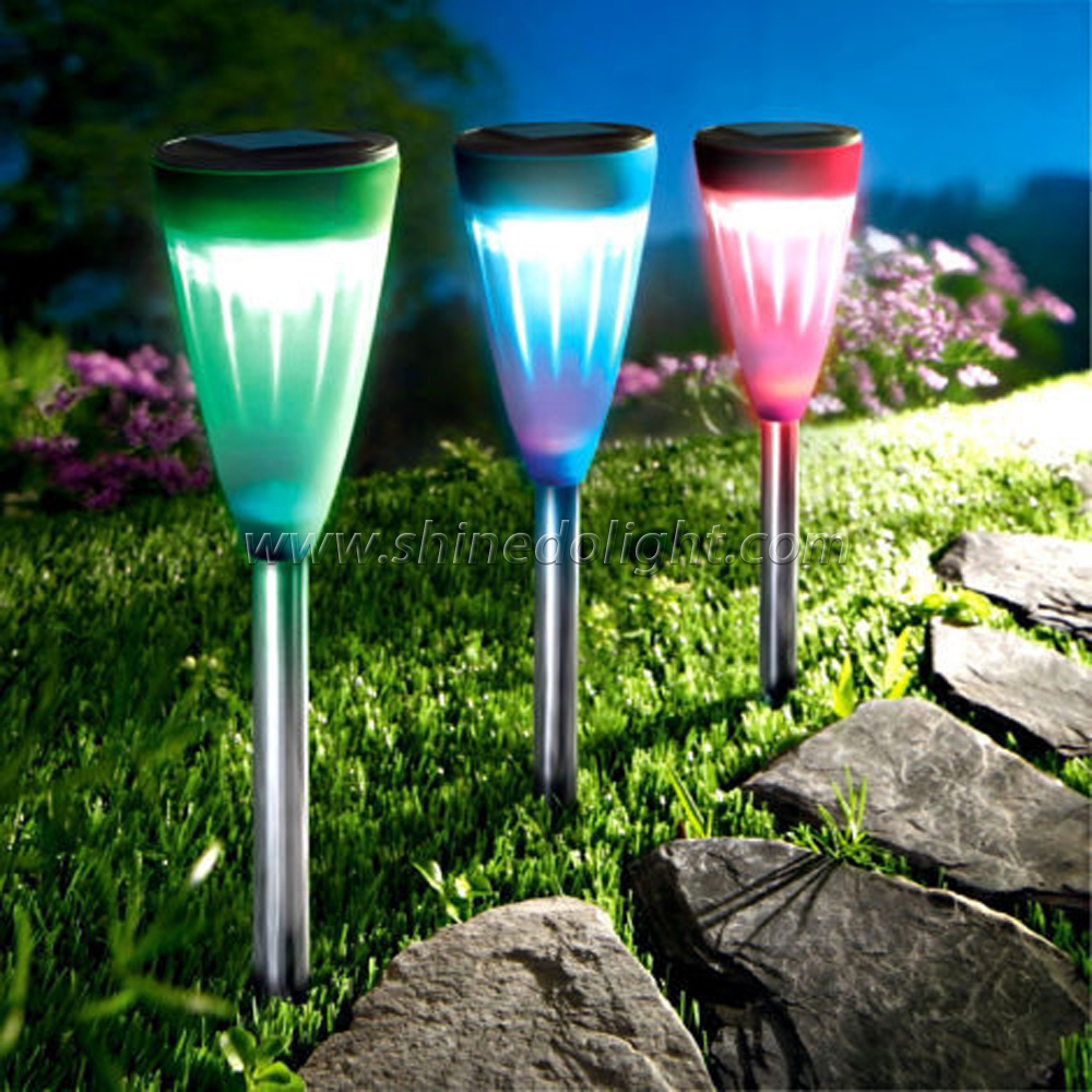Solar Lawn Light with RGB or White Color Lights