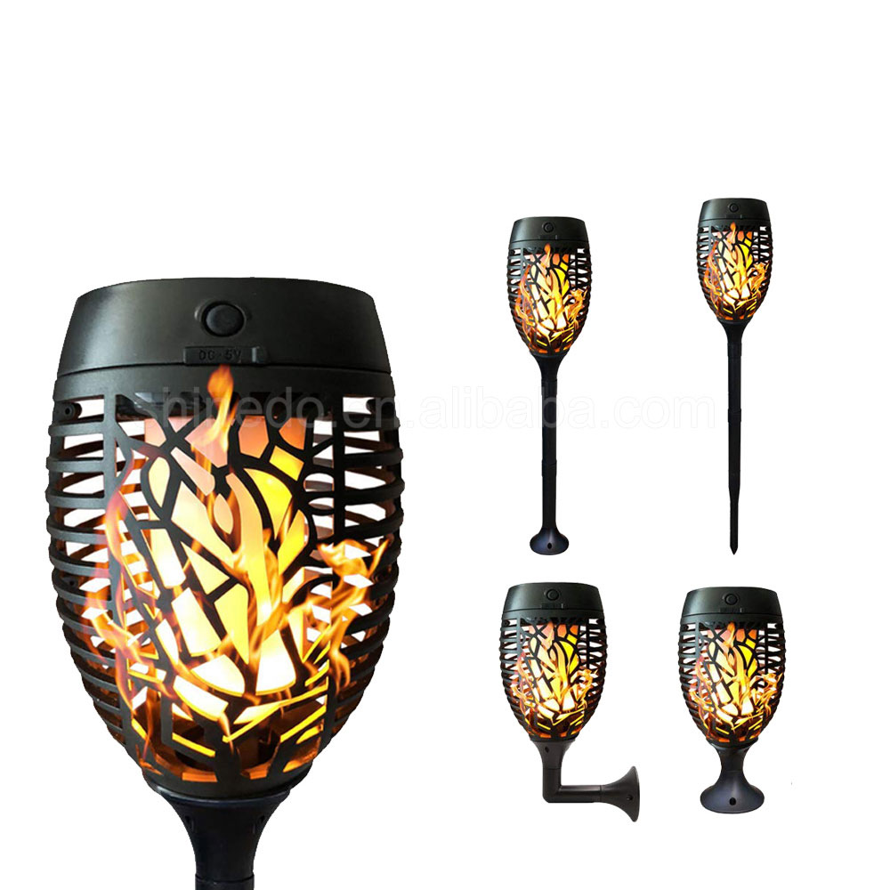 51LED Waterproof Flickering Flame Solar Torches Dancing Lights