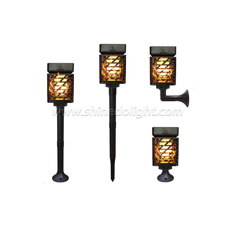 Solar Torch Dancing Flickering Flame Landscape Light