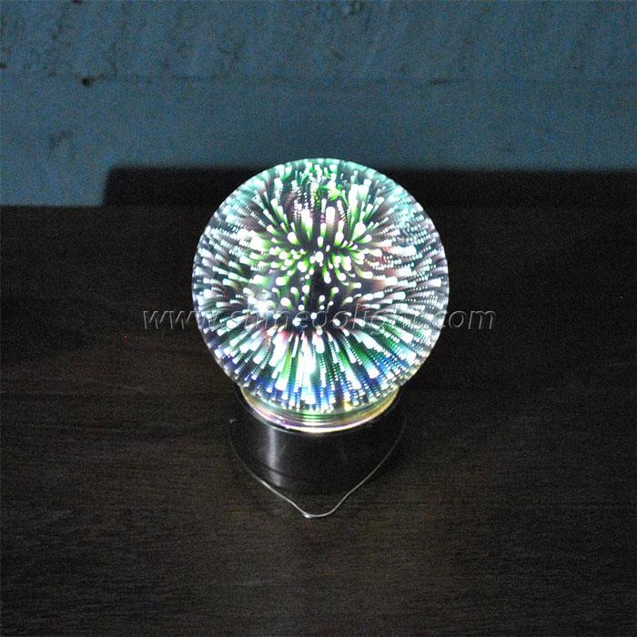 3D holographic projection solar jar light