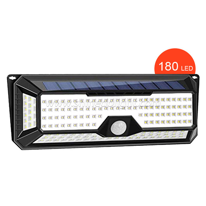 180 LED Solar Light PIR Motion Sensor Home Garden Garage Yard Gate Security Light 1100LM Waterproof IP65