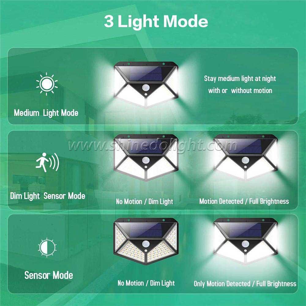 100 led solar motion light