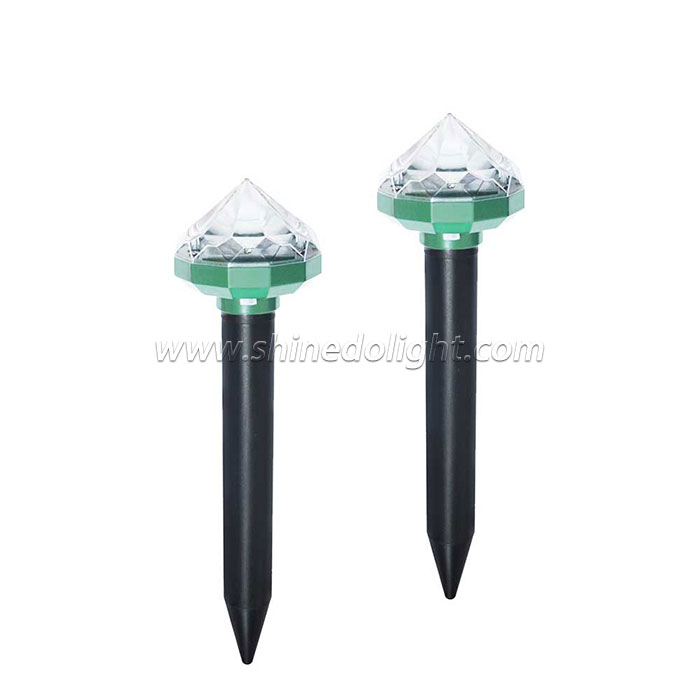 Patent New Design Solar Mole Repellent Yard Stakes Sonic Mole Repeller Gopher and Vole Chaser Spike Deterrent Mole with LED