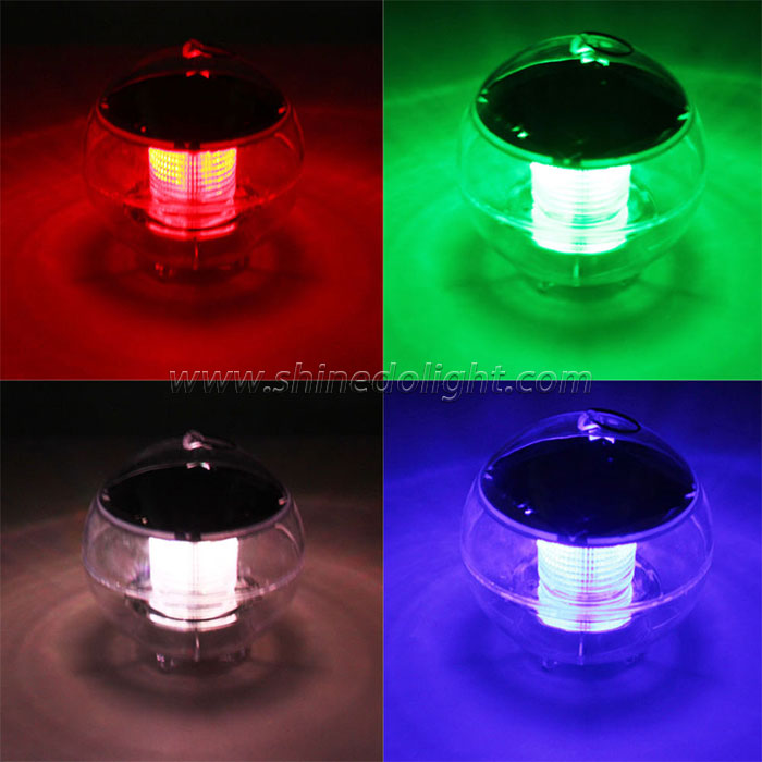 2 led outdoor solar floating light ball water