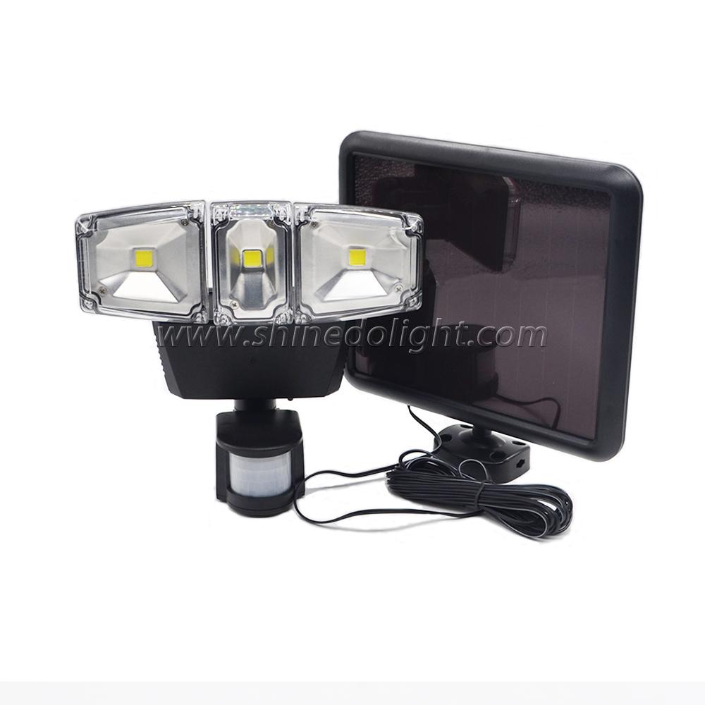 Three Heads Adjustable COB Solar Flood Lights Outdoor Waterproof lamps