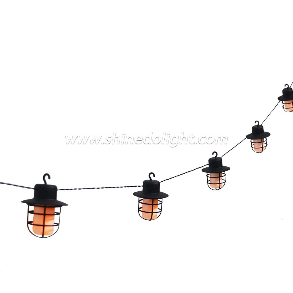 Led Outdoor Decorative Lights 10 Led Waterproof Solar String Light For Christmas Wedding Party