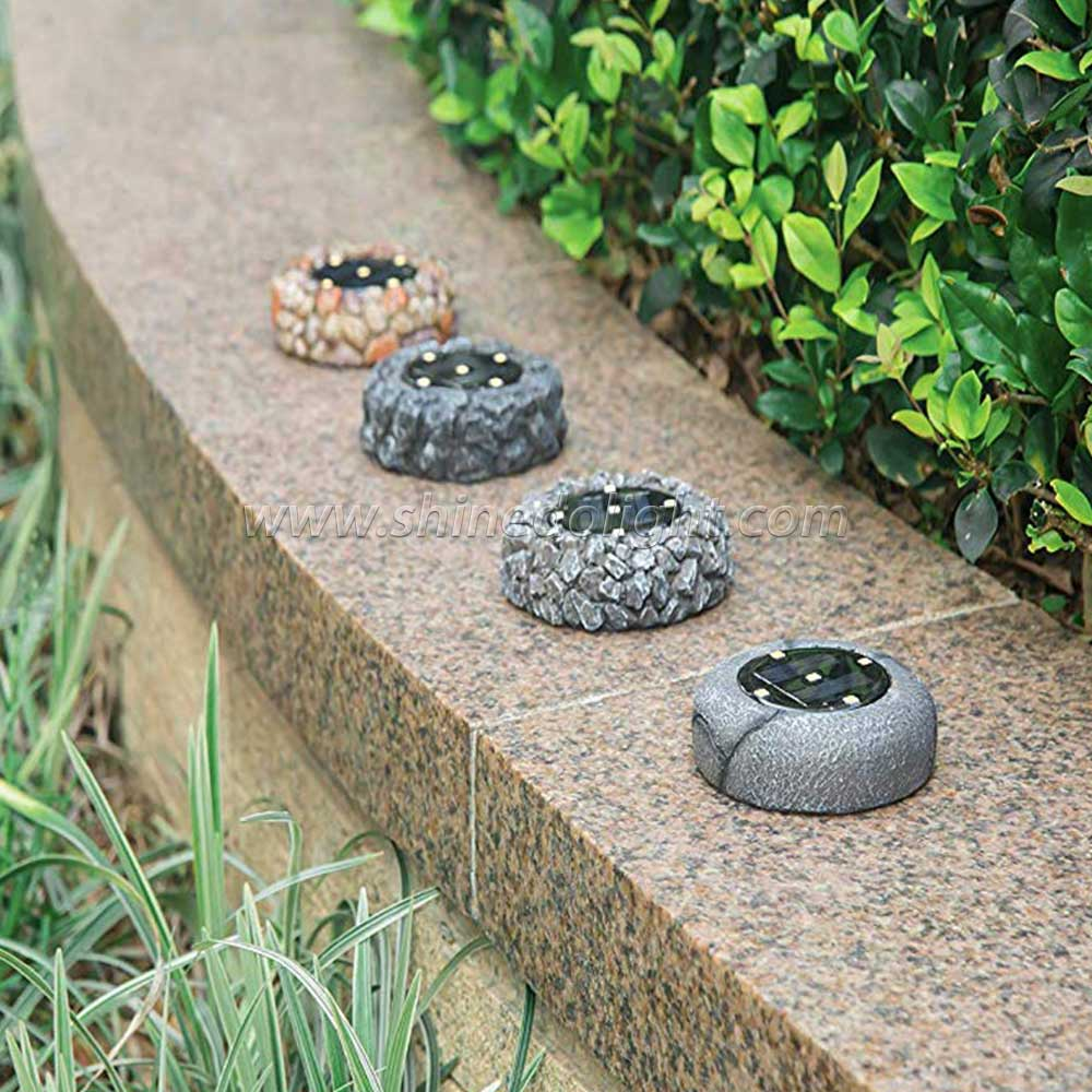 Newest 5 LED Solar Powered Rock Outdoor Waterproof Landscape Lights