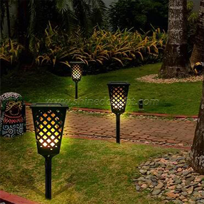 solar flame torch light