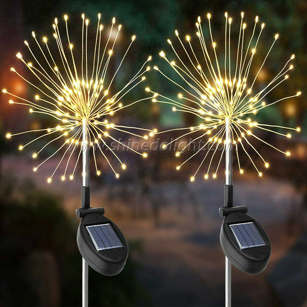 Stainless Steel RGB Color Changing Solar Garden Lawn Decorative Stake Light
