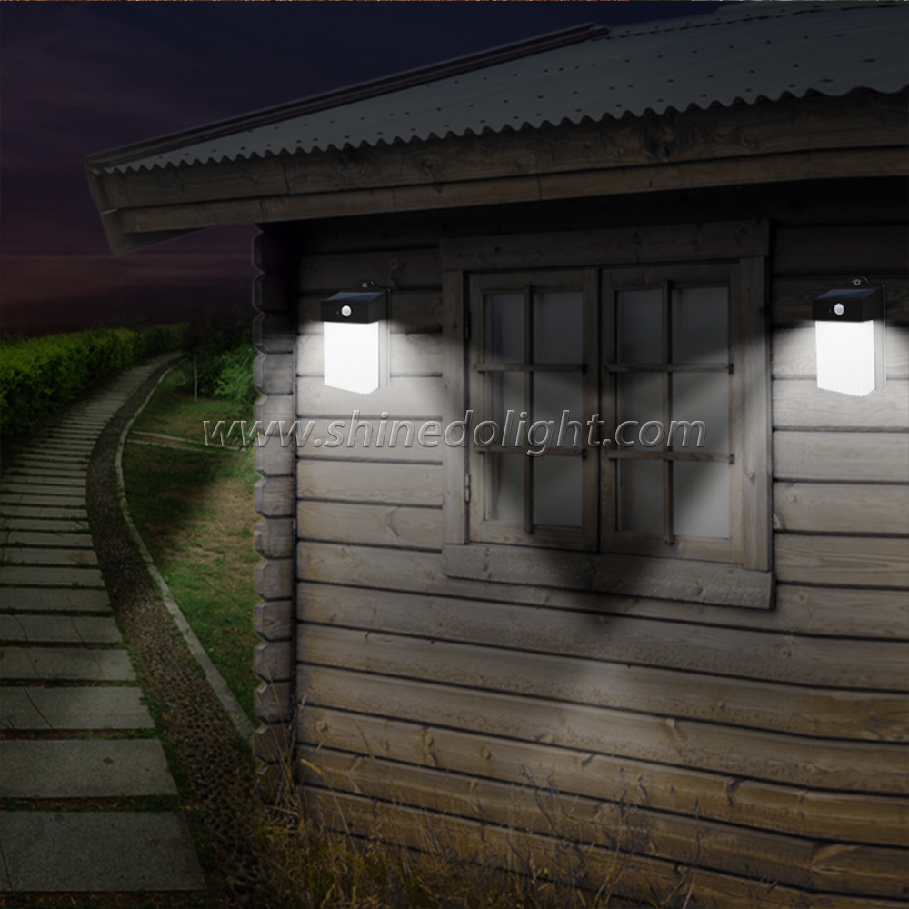New Design Solar Motion Sensor Light IP65 Garden Lamp Outdoor Wall Lamp
