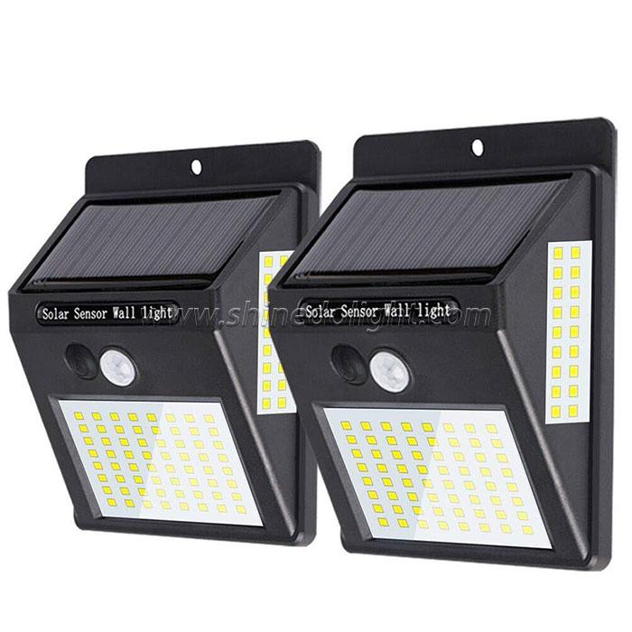 100led Outdoor Motion Sensor Wall Lamp Solar Powered Lights