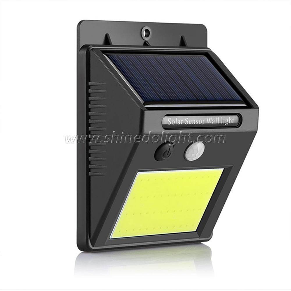 COB LedMotion Waterproof Sensor Solar Powered Outdoor Lights Garden Wall Light