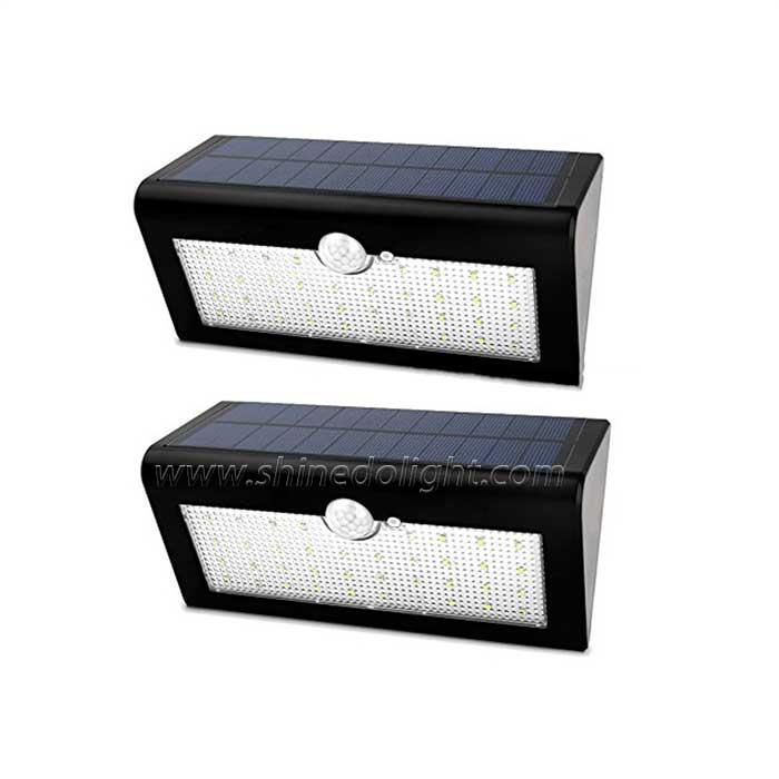 Solar Motion Sensor Triangle Wall Light with 38 Leds