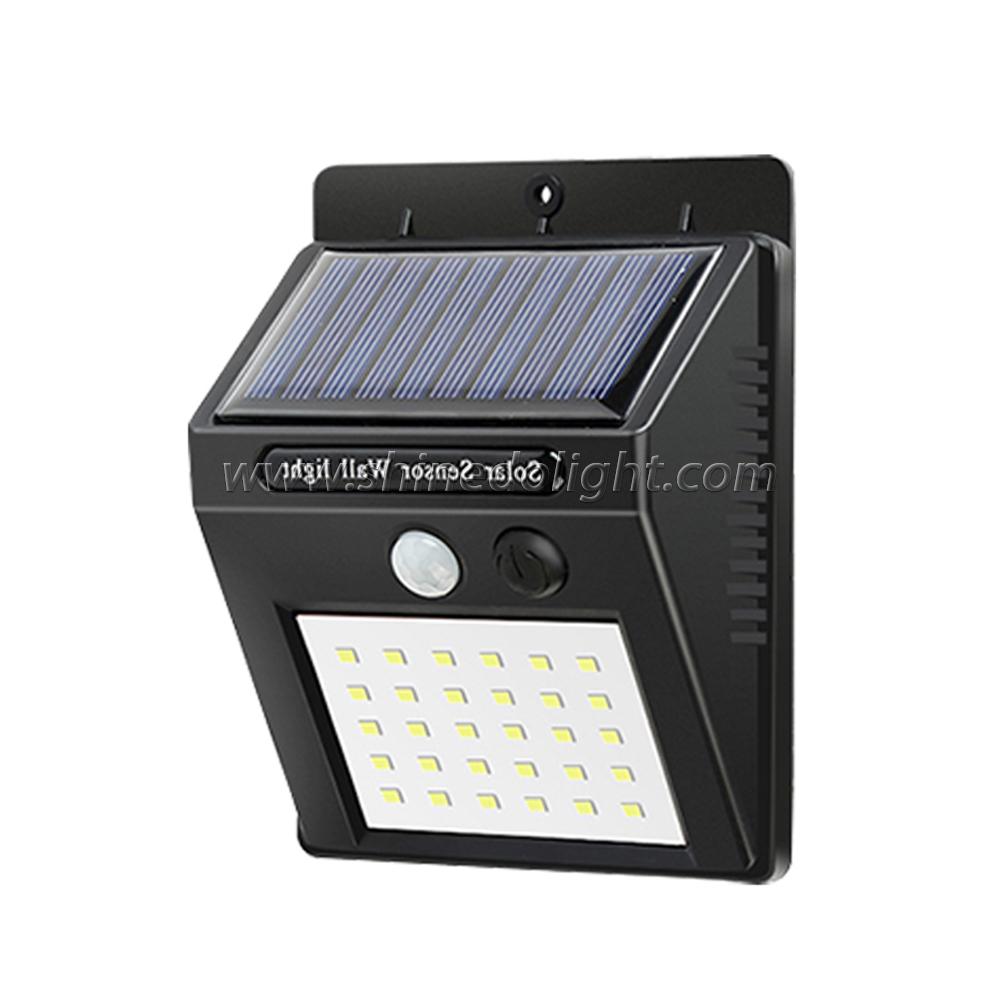 Hot Sale Small Solar Motion Sensor Light Waterproof Outdoor Wall Lamp