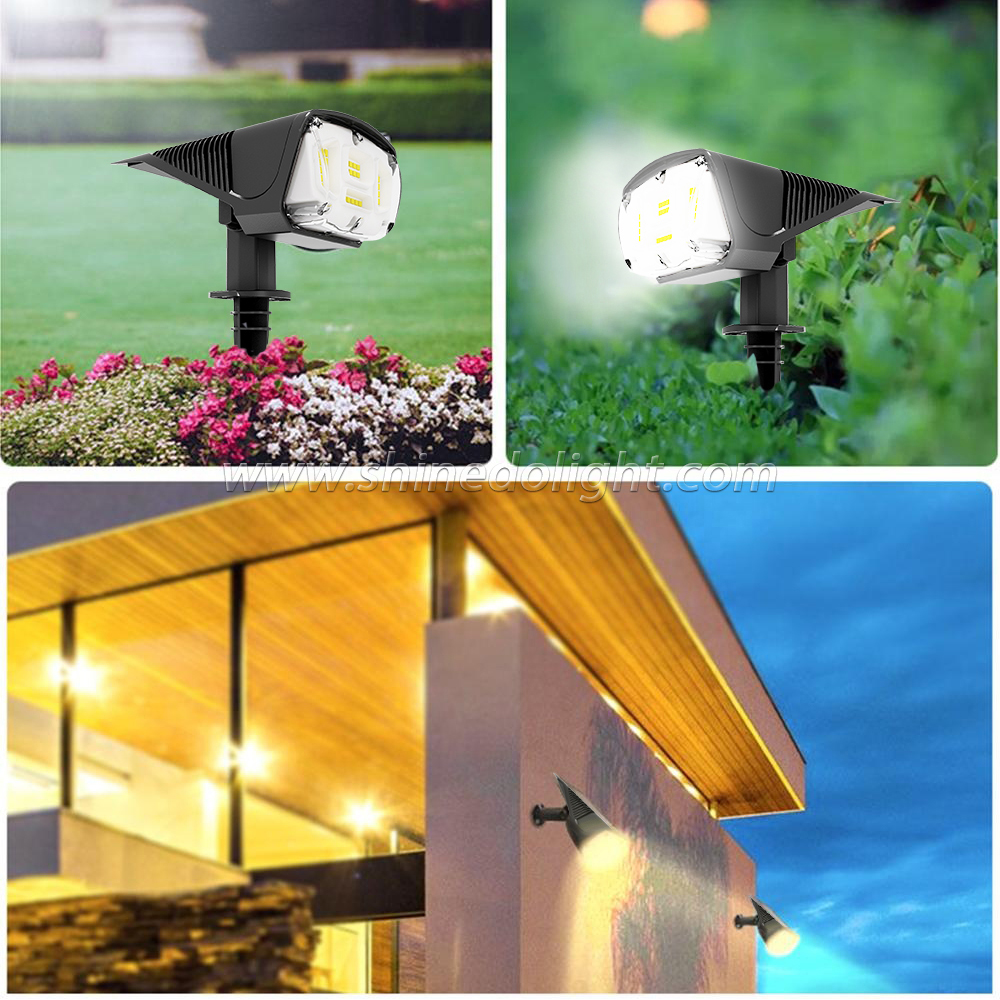Waterproof Outdoor Wireless landscape LED Solar Spot Light for Garden Ground Lawn